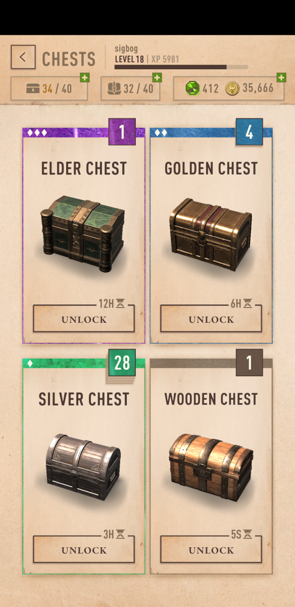 """Various Chests in """"The Elder Scrolls: Blades"""""""