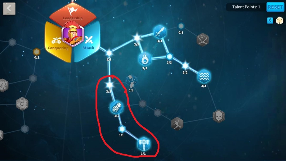 Remaining Attack Talents to Unlock in this Scipio Talent Build Tree Guide
