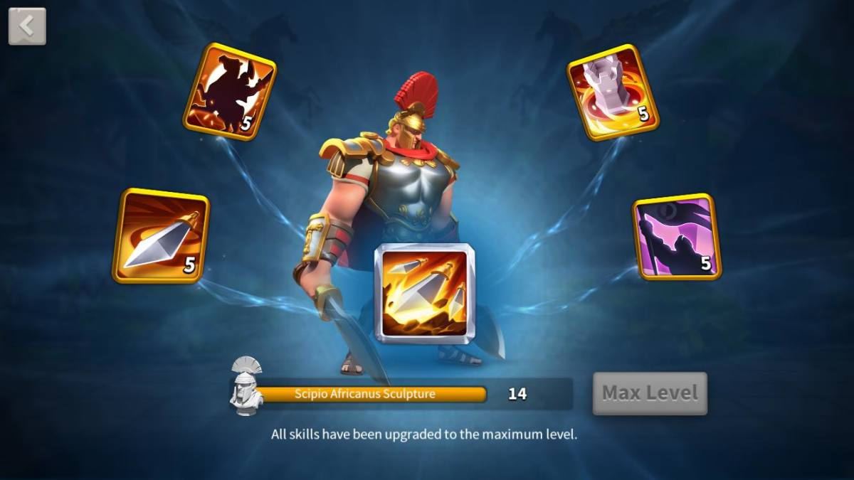 Scipio's Skills are Maxed Out in Rise of Kingdoms