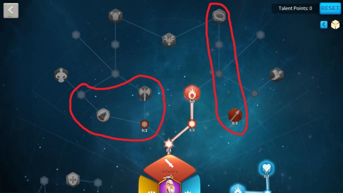 Remaining talents to unlock in Sun Tzu Infantry Talent Tree