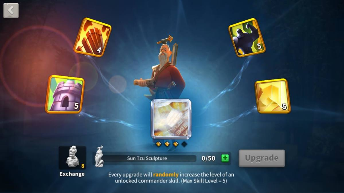Sun Tzu Skill's Page in Rise of Kingdoms