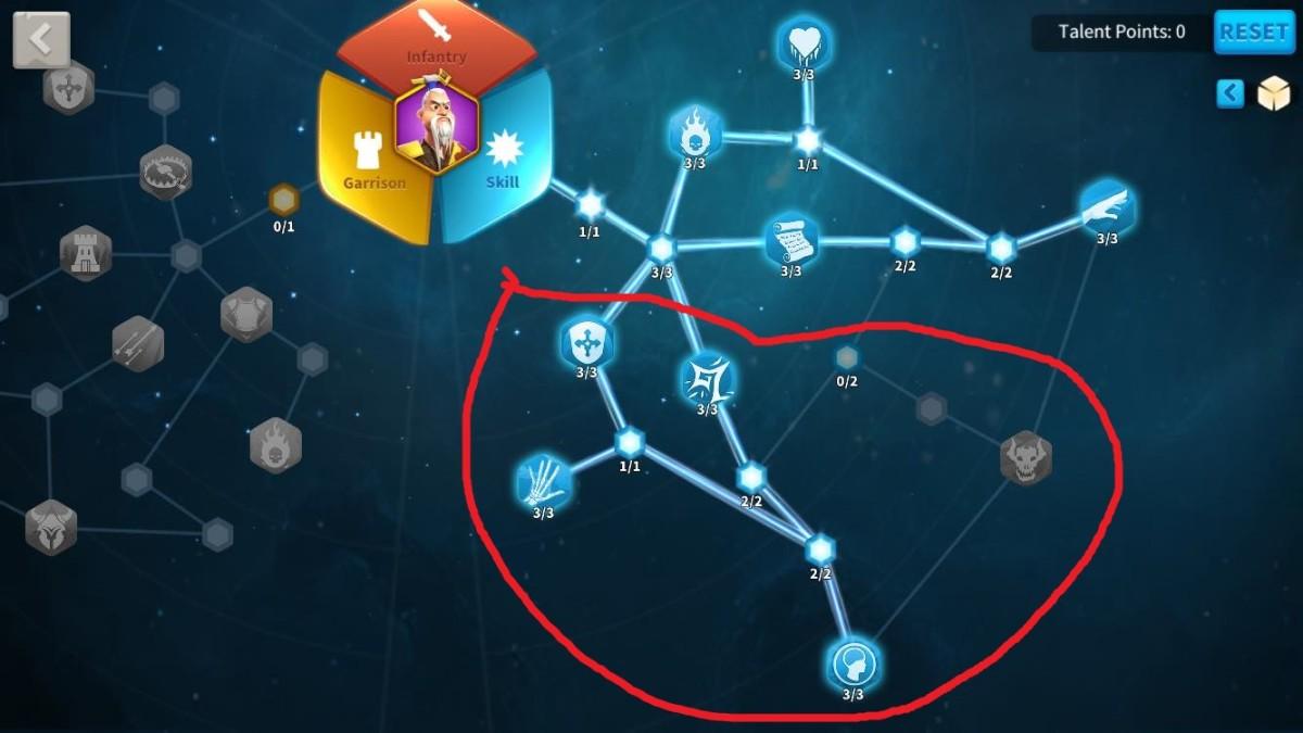 Unlocking all of the remaining Talents in Sun Tzu's Skill Talent Tree