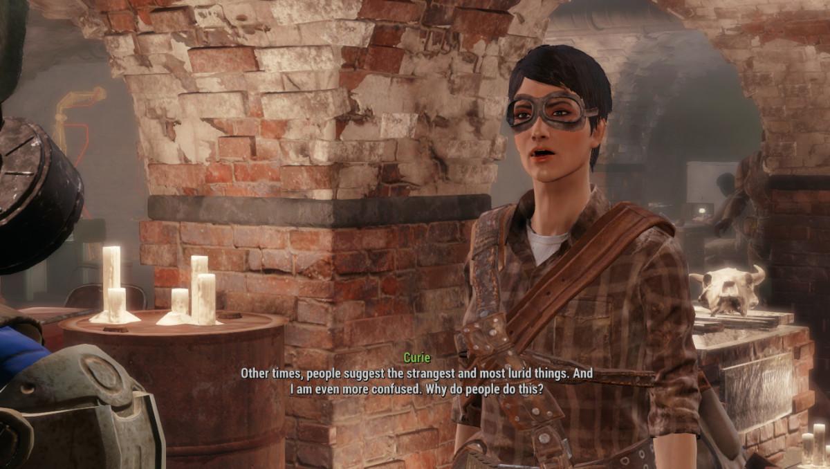 My screenshot of Curie in the Railroad headquarters.