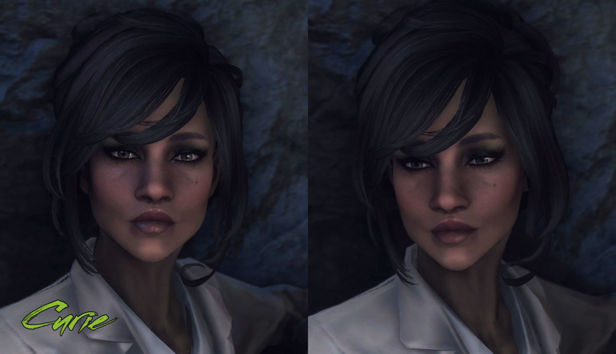 Another beautiful black Curie from Immersive Wastelanders.