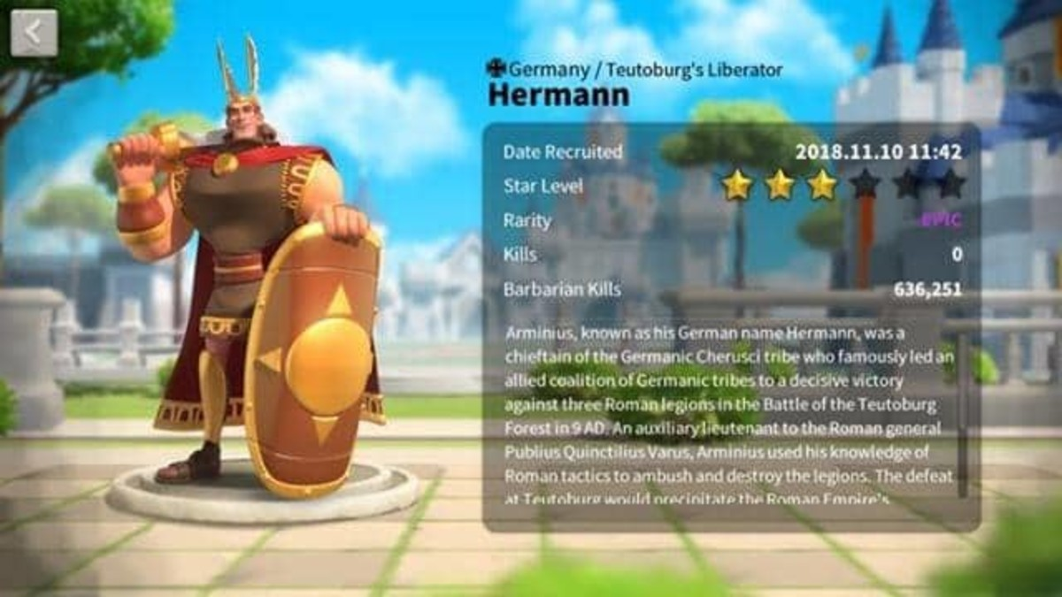 "Hermann in ""Rise of Kingdoms"""