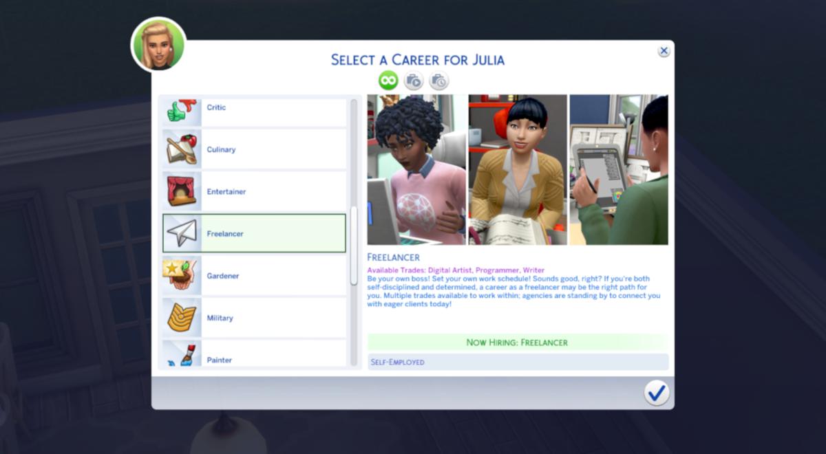 """The Sims 4"" Freelancer Career Guide"