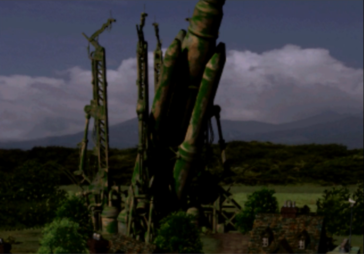 """Final Fantasy VII's"" locations use a mix of 2D pre-rendered backgrounds with 3D models of houses, buildings and structures to make locations feel alive while also adding detail without over-working the PlayStation One's limited processing power."