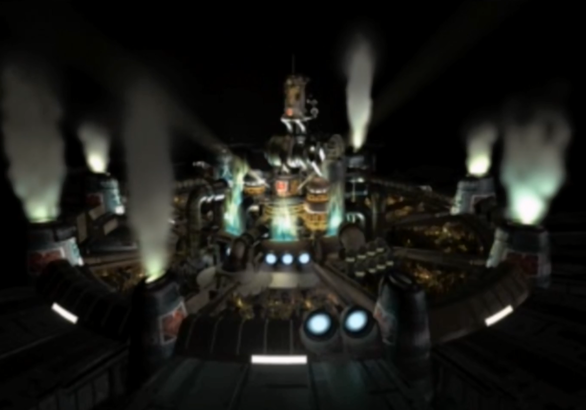 Midgar, the capital city of Gaia and a major location in the game.