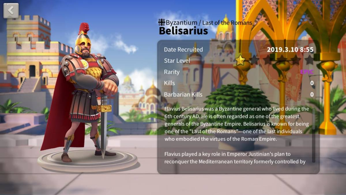"""Ultimate Belisarius Talent Tree Build Guide: The Epic Pure Cavalry Commander in """"Rise of Kingdoms"""""""