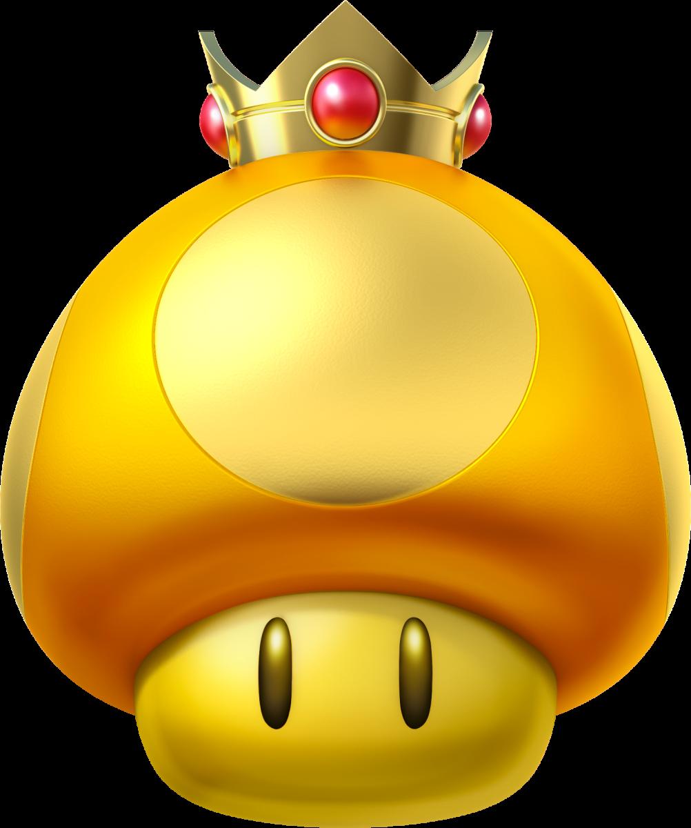 A Golden Mushroom in Mario Kart