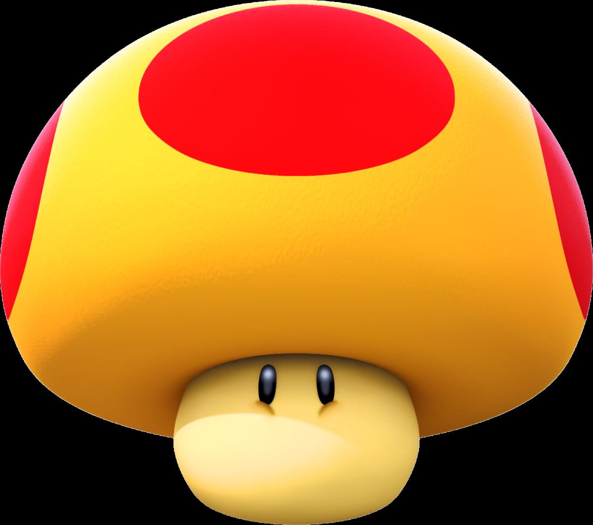 A Mega Mushroom in Mario Kart
