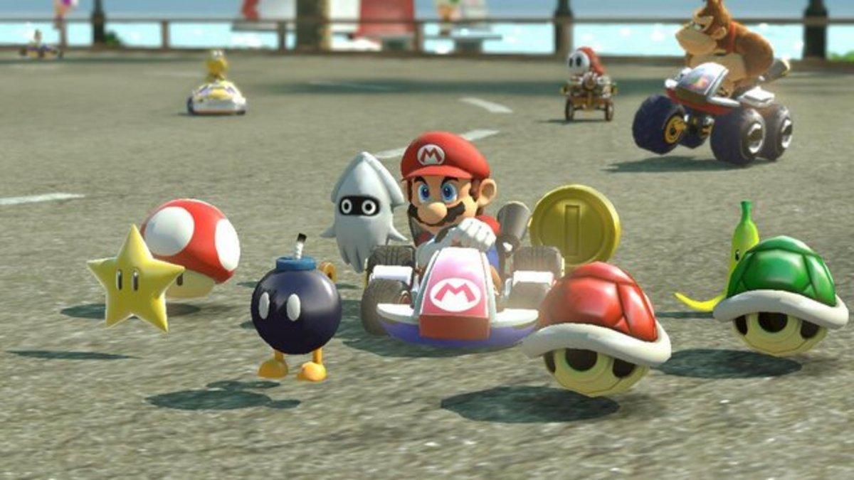 A Crazy 8 in Mario Kart