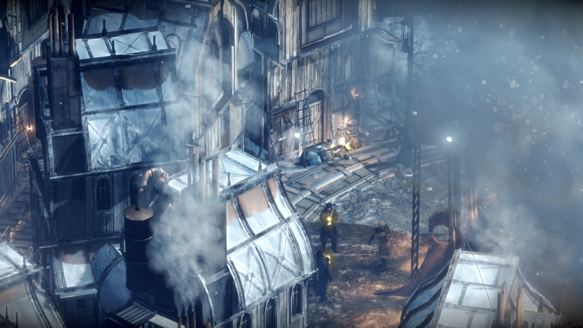 Upgrading buildings is important to survival in Frostpunk