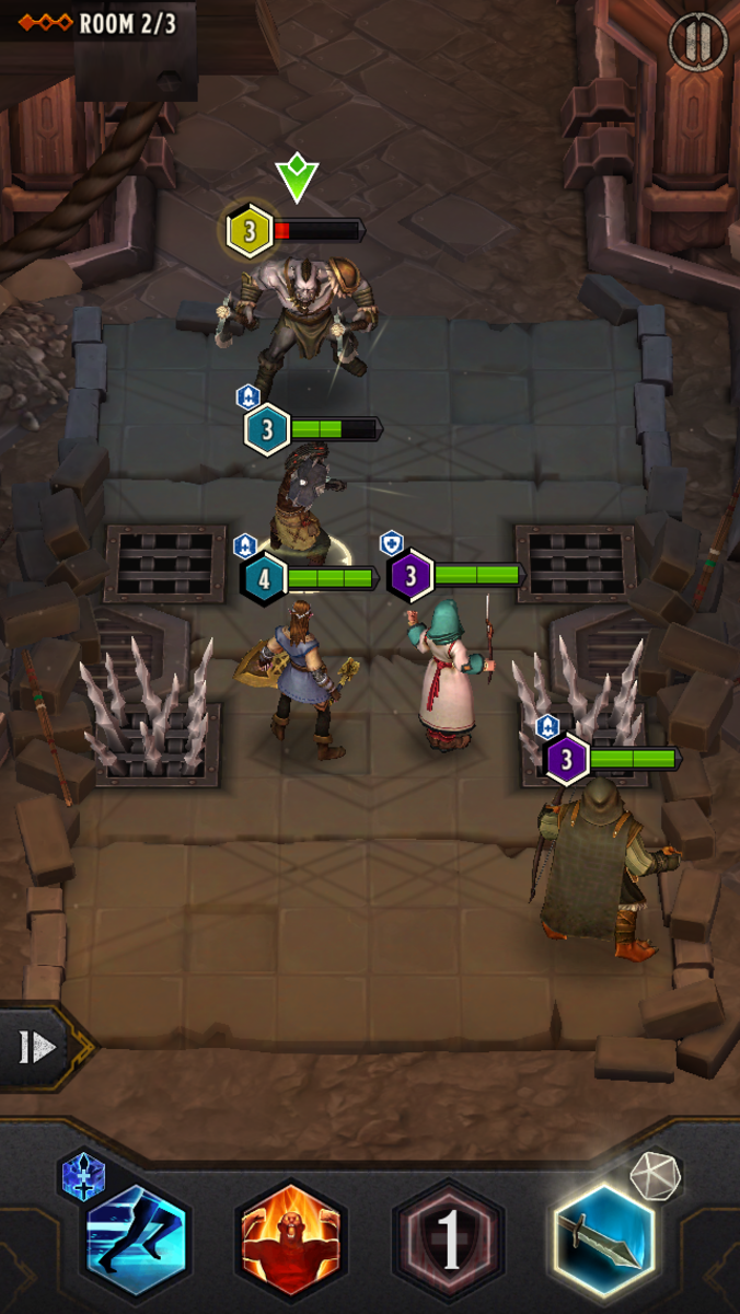 Watch our for traps! Take note of your hero positioning. Some dungeons have obstacles that can hamper your heroes' movement.