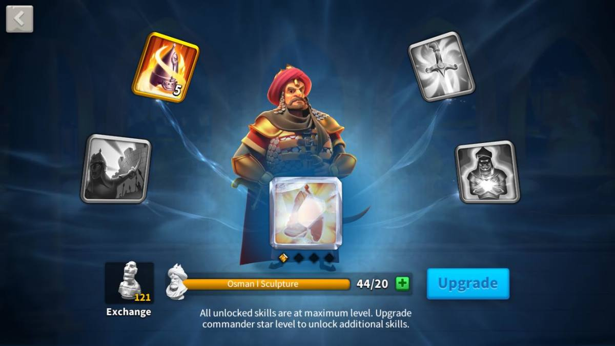 """Osman I Skills Page in """"Rise of Kingdoms"""""""