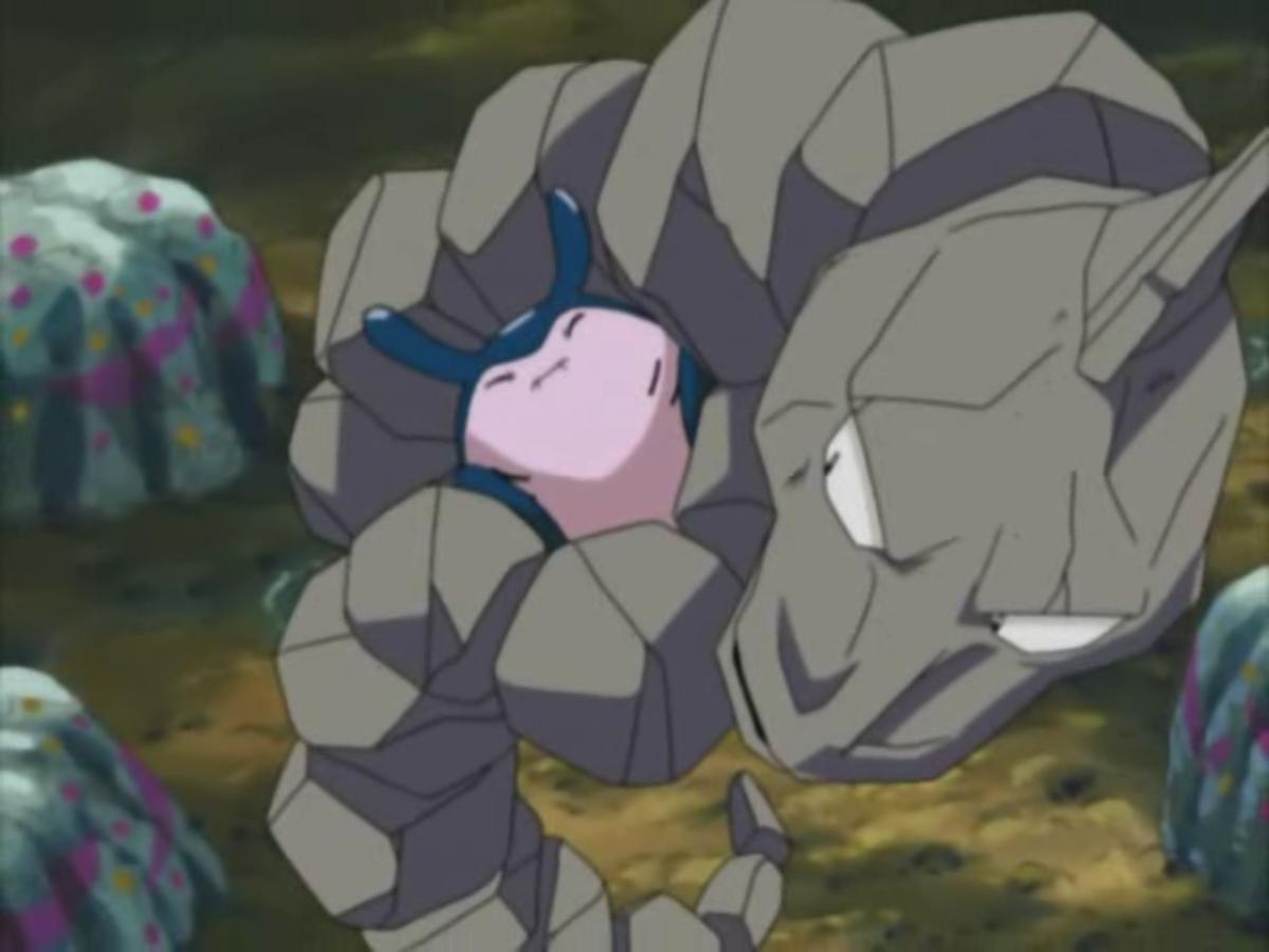 Onix using Bind in Pokemon
