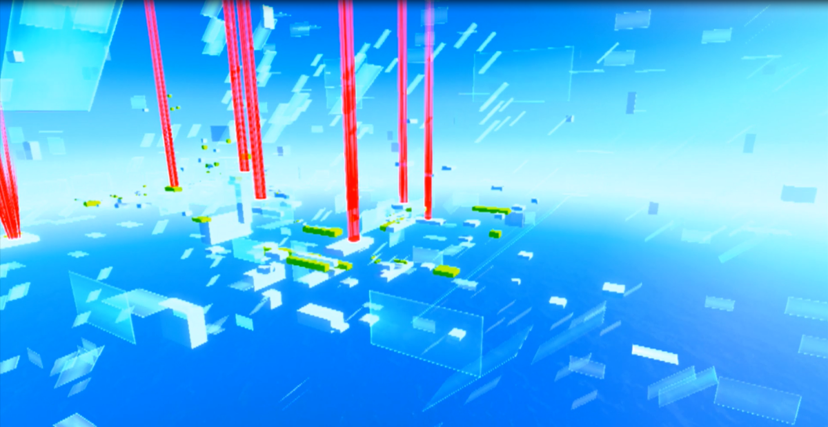 The Mirror's Edge expansion pack, Pure Time Trials, adds ten additional time trial levels to the game. These trials are more abstract in nature with brand new layouts and designs.