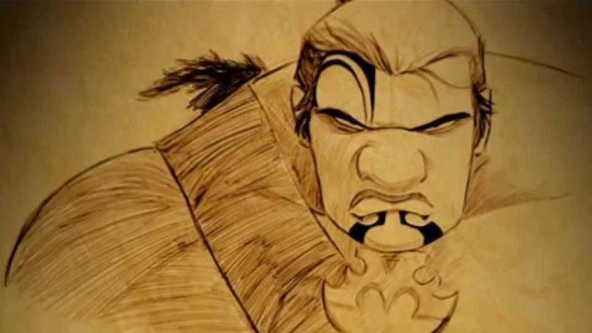 the hero of Mark of Kri, the formidable Rau