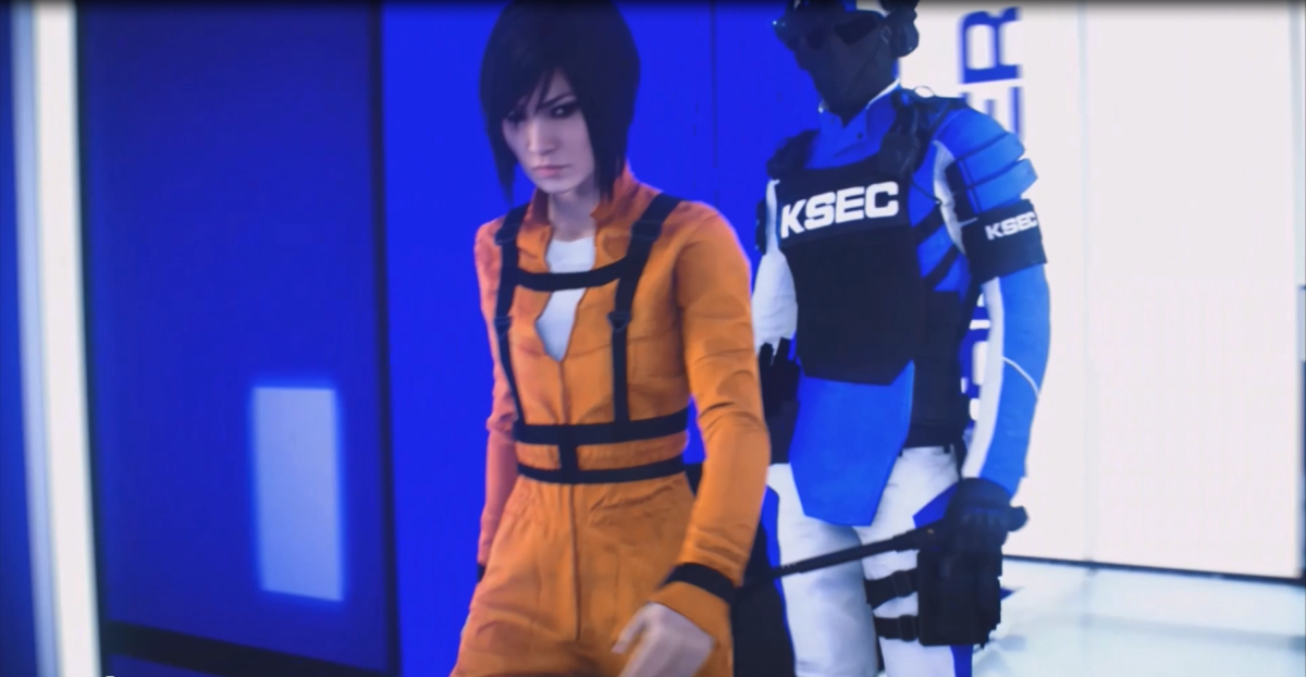 The game begins with Faith in prison, having served almost two years after the events of the Mirror's Edge Exordium comic.