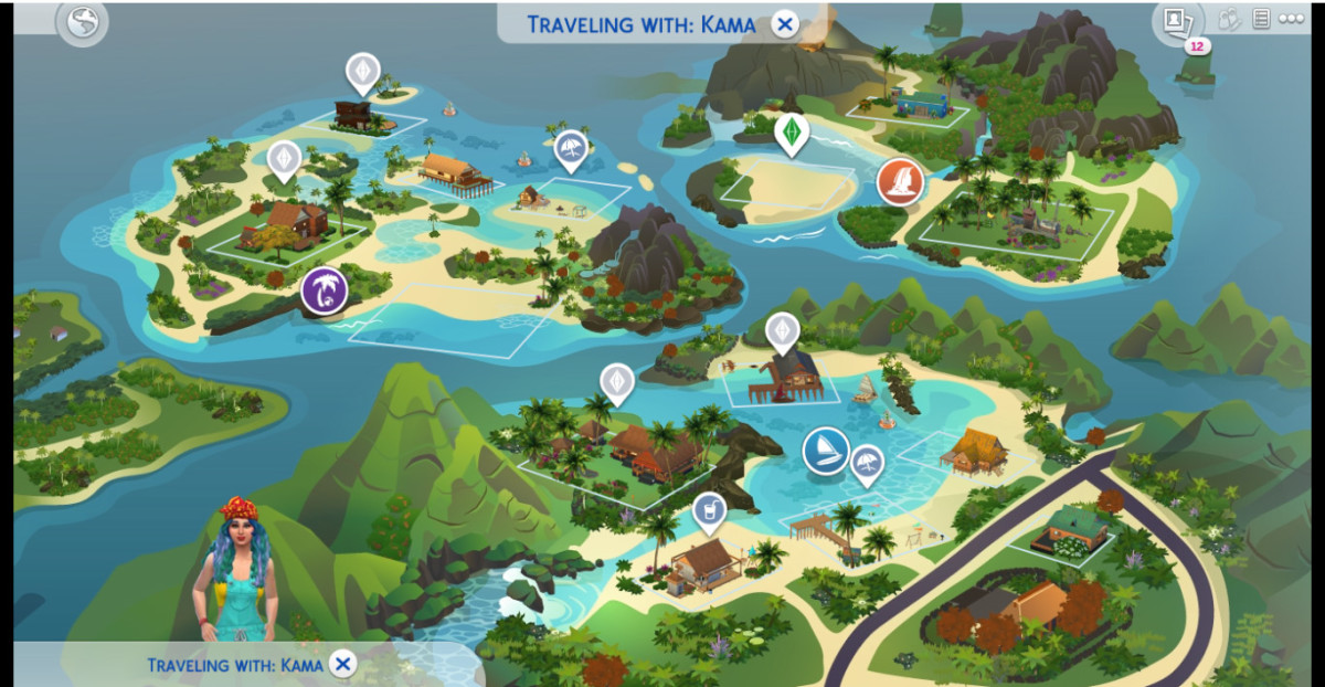 This is a Hawaiian-inspired exotic world with its own culture in the game.