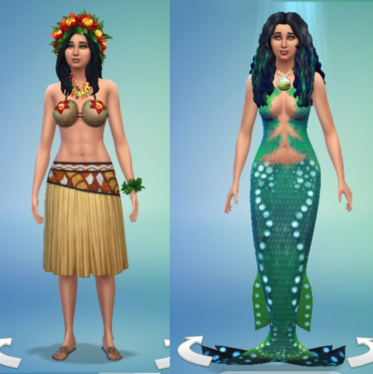 Now, your Sim can have a human and a mermaid form. Can you imagine the mixes between humans, aliens, vampires and mermaids now? Life is getting pretty exciting in the Sims universe.