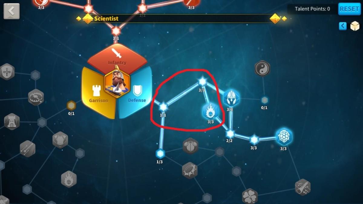 Unlocking Burning Blood in Defense Talent Tree