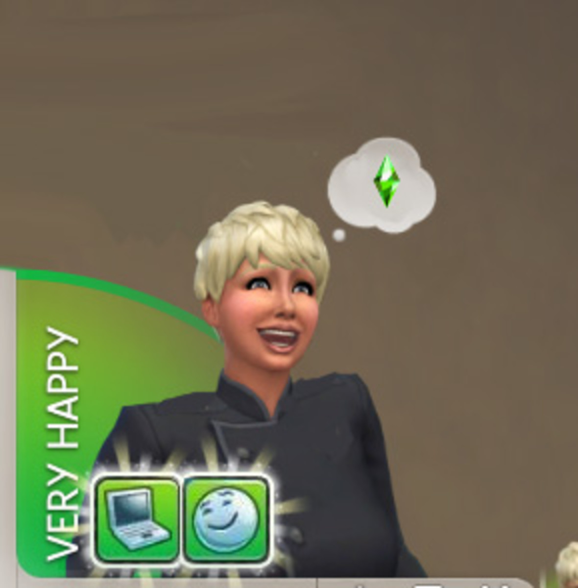 """My Sim, modeled on me, after playing """"The Sims"""" on her pc."""