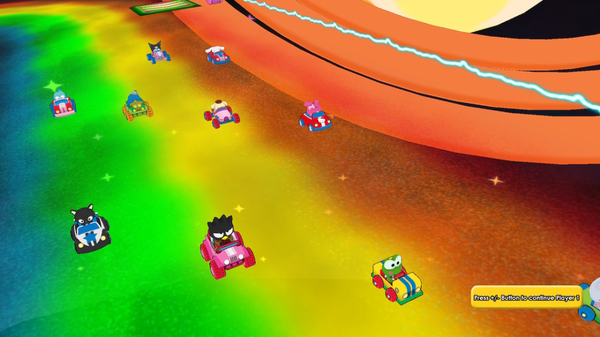 "Some of the racers you'll meet in ""Hello Kitty Kruisers."""