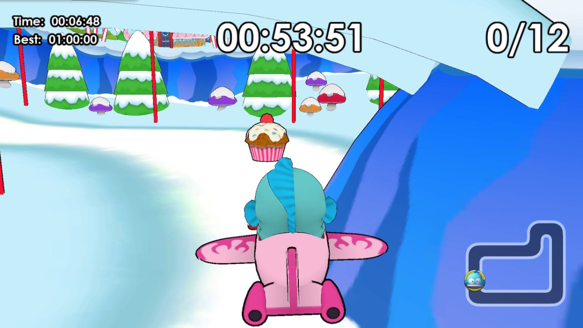 The goal of the Cupcake Hunt challenges in Adventure mode is to collect all of the cupcakes before the time runs out.