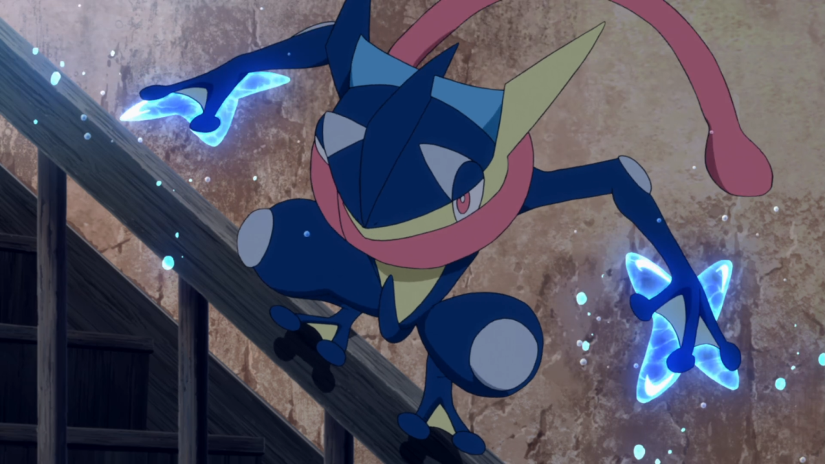 Greninja using Water Shuriken
