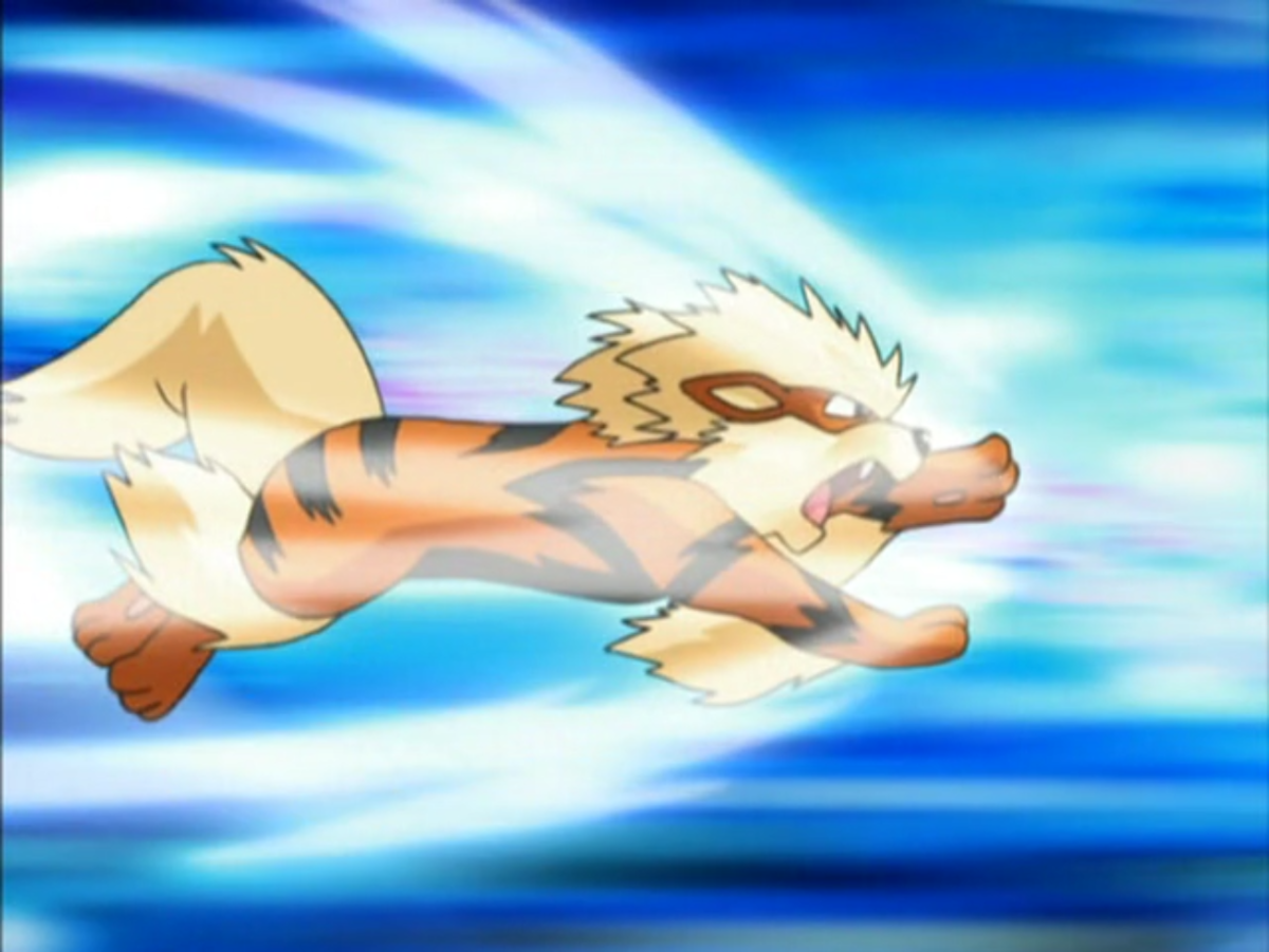 Arcanine using Extreme Speed