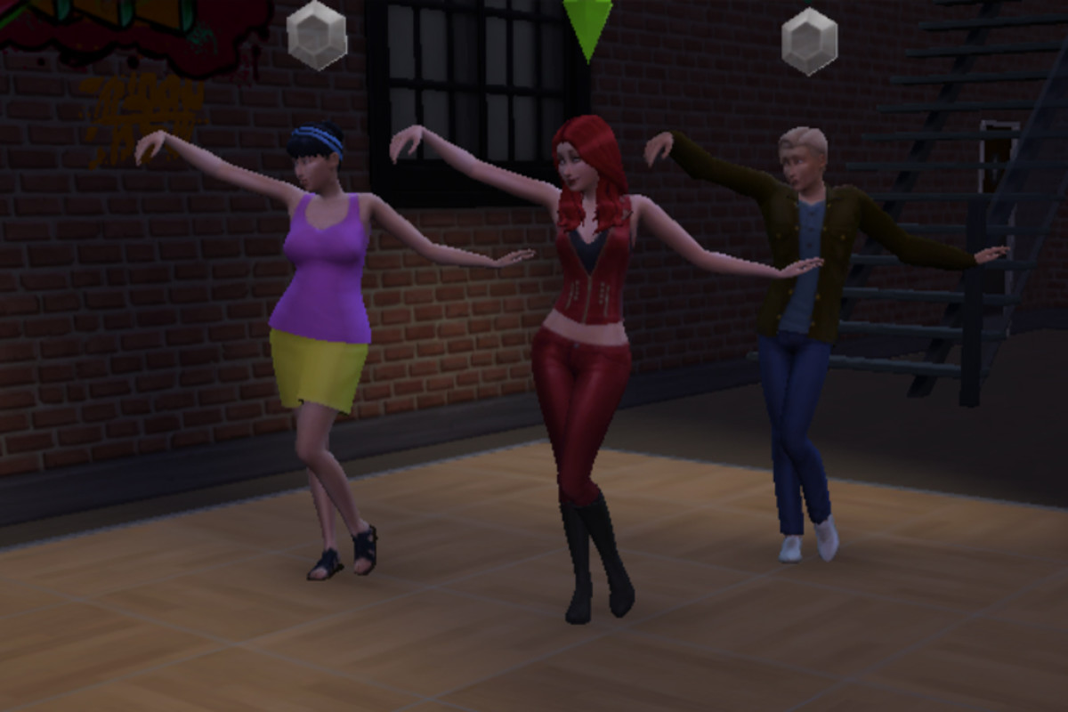 Group dancing in Sims: It's highly entertaining, for the Sims AND for the player.