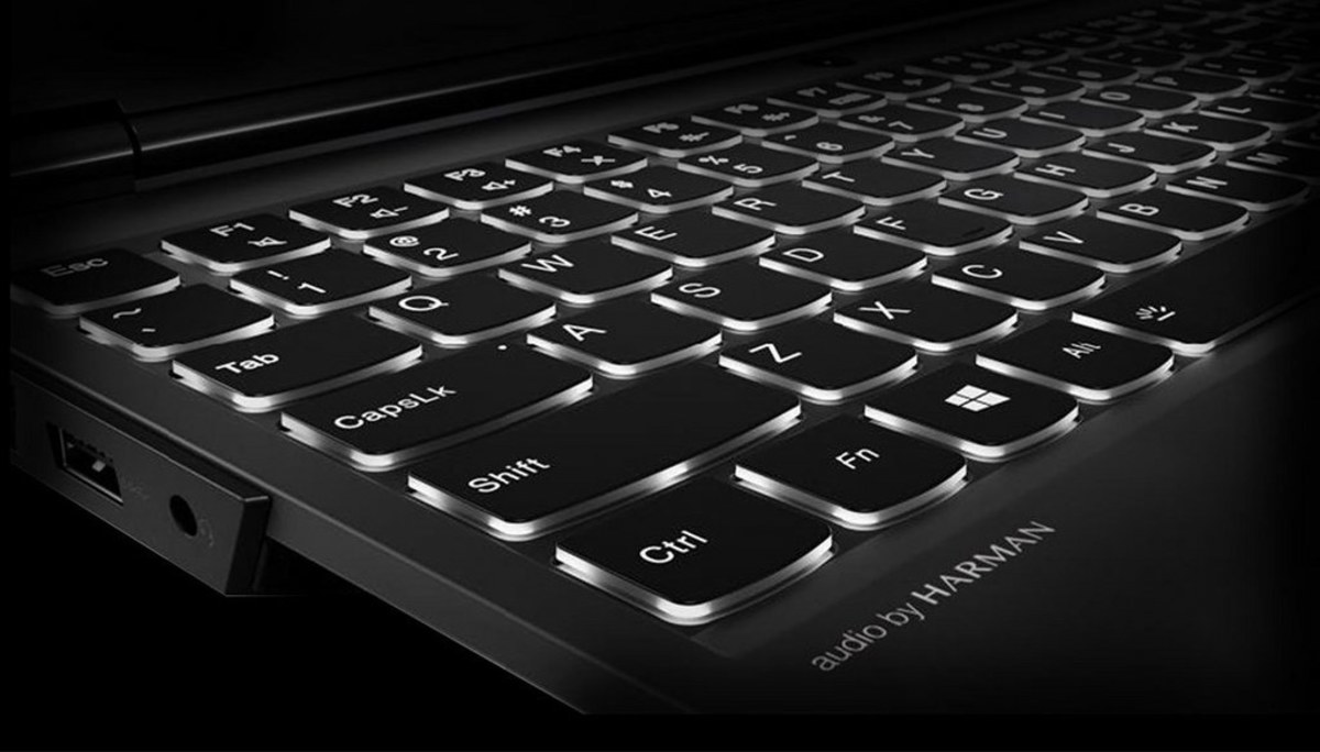 A backlit keyboard makes it easy to game during the night.