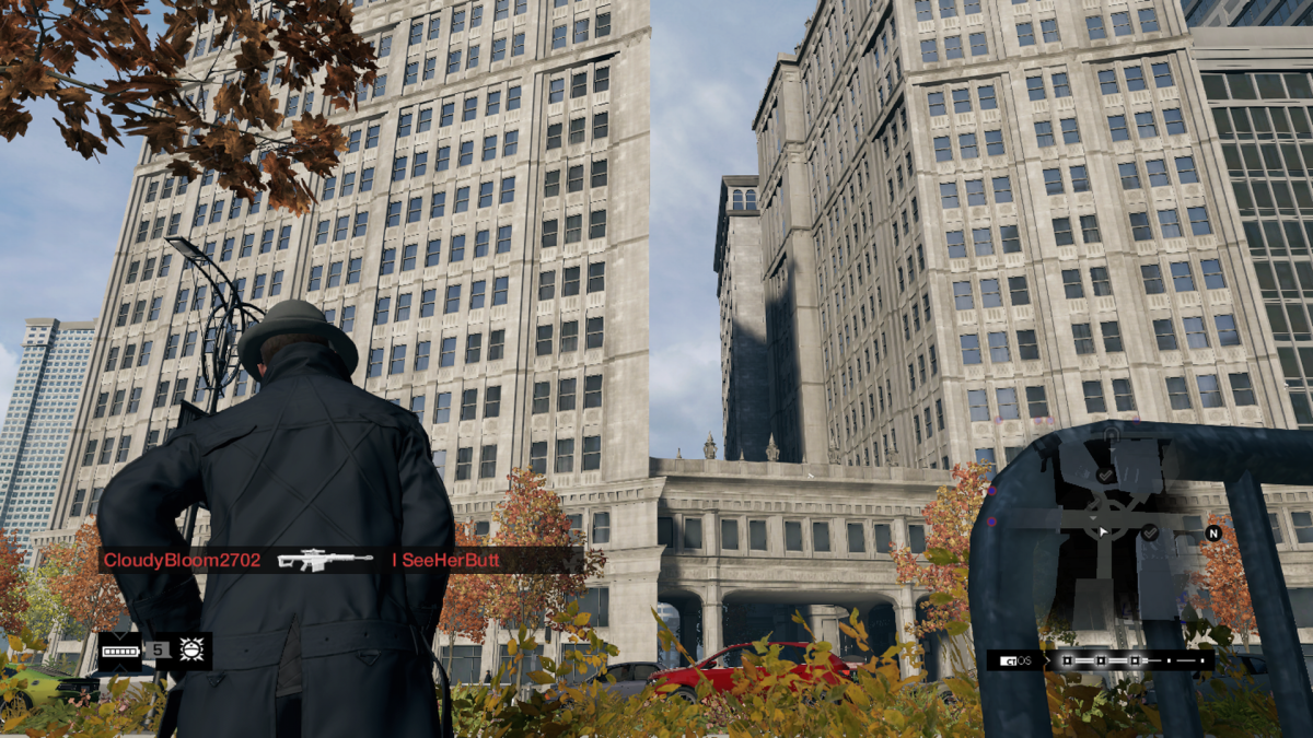 The Crowley Building in Watch Dogs. And yes I took this screenshot after the December 2015 trip.