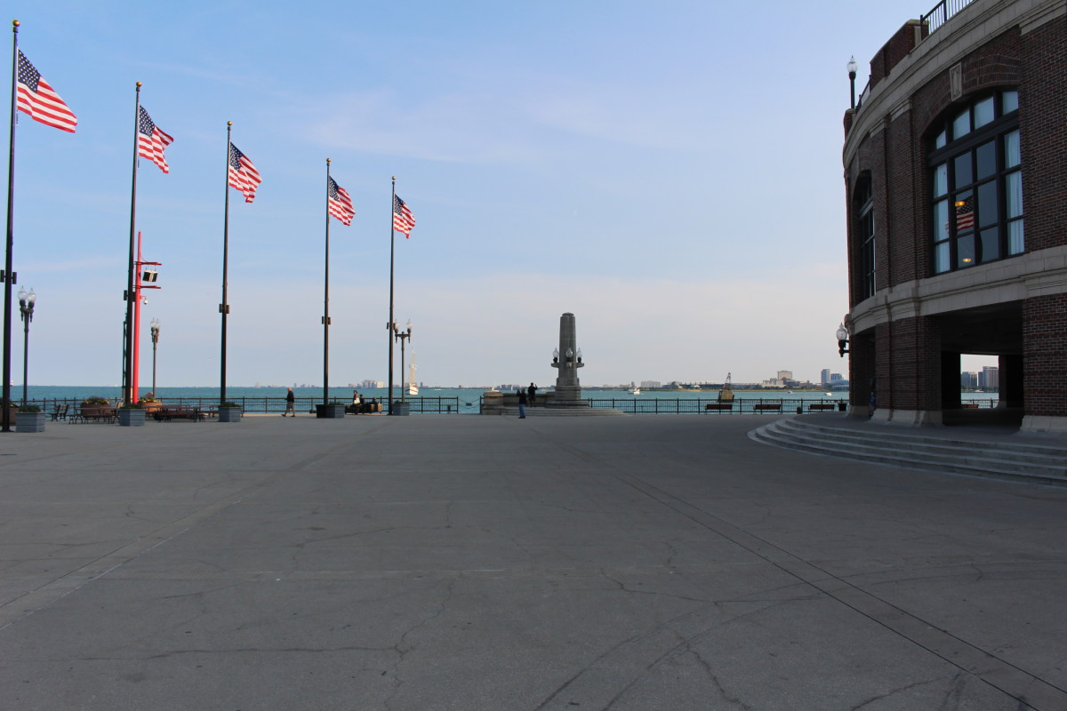 The far East portion of Navy Pier. No I don't mean it's an Asian thing, I mean it's the furthest you can go before you make a splash...