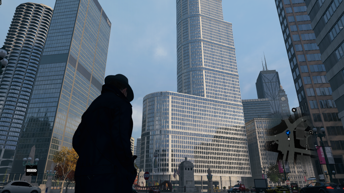 Triumphe Tower in-game. You know I hadn't realized until now how much it kinda looks like a giant package...