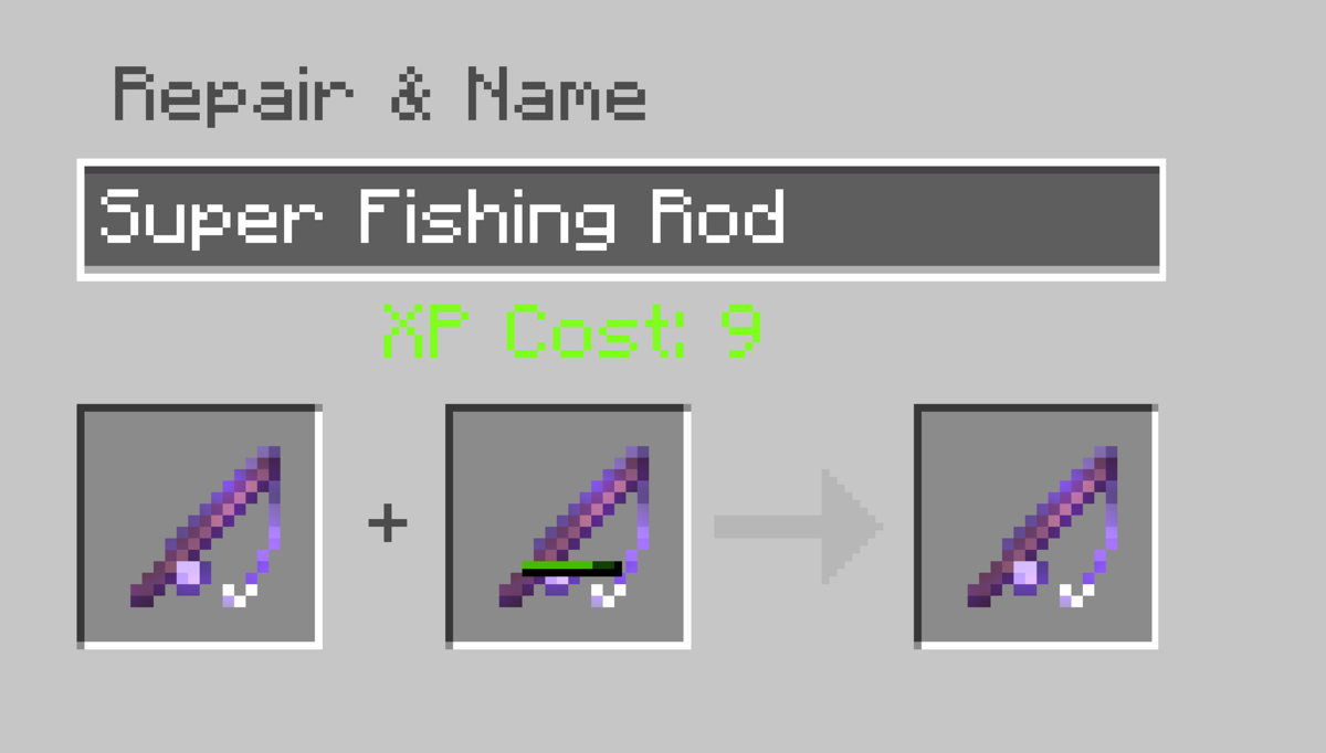 Combining two enchanted rods in an anvil will combine the enchantments, giving you a 'super' fishing rod!