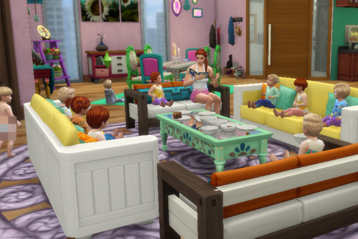 """""""The Sims 4"""" Game Gone Wrong: Life With 10 Toddlers in One Household"""