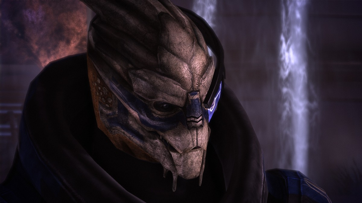 "The first scene with Garrus in ""Mass Effect."""