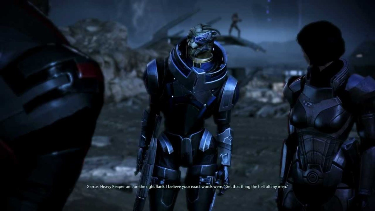 Garrus on Palaven's moon.