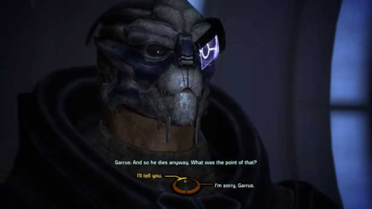 "Garrus during his personal quest in the first ""Mass Effect."""