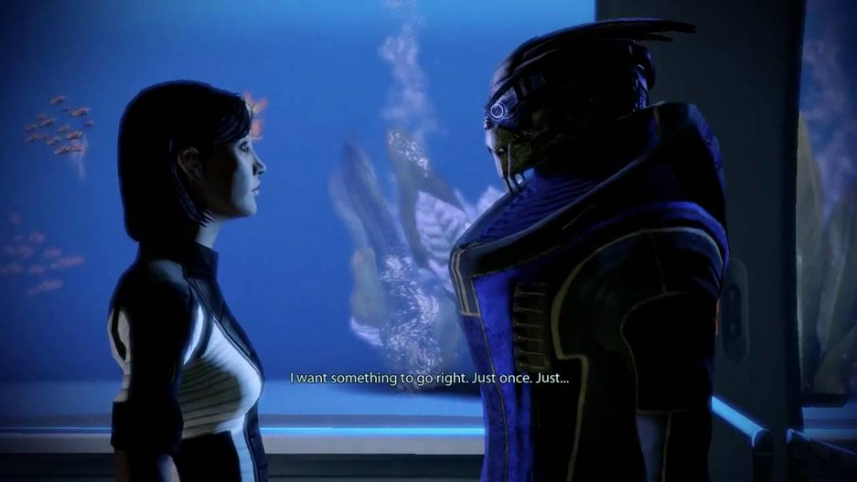 "Garrus and Shepard in ""Mass Effect 2."""