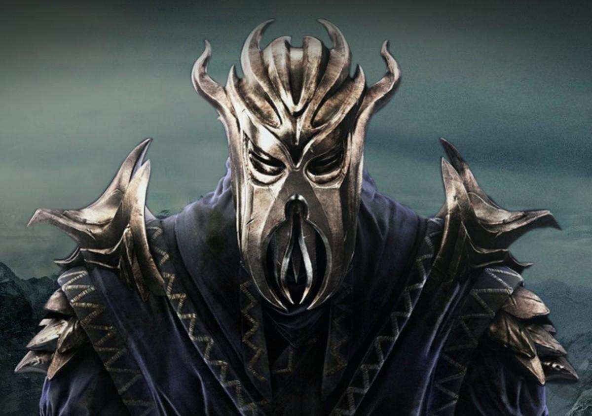 "Miraak's Mask in ""Skyrim"""