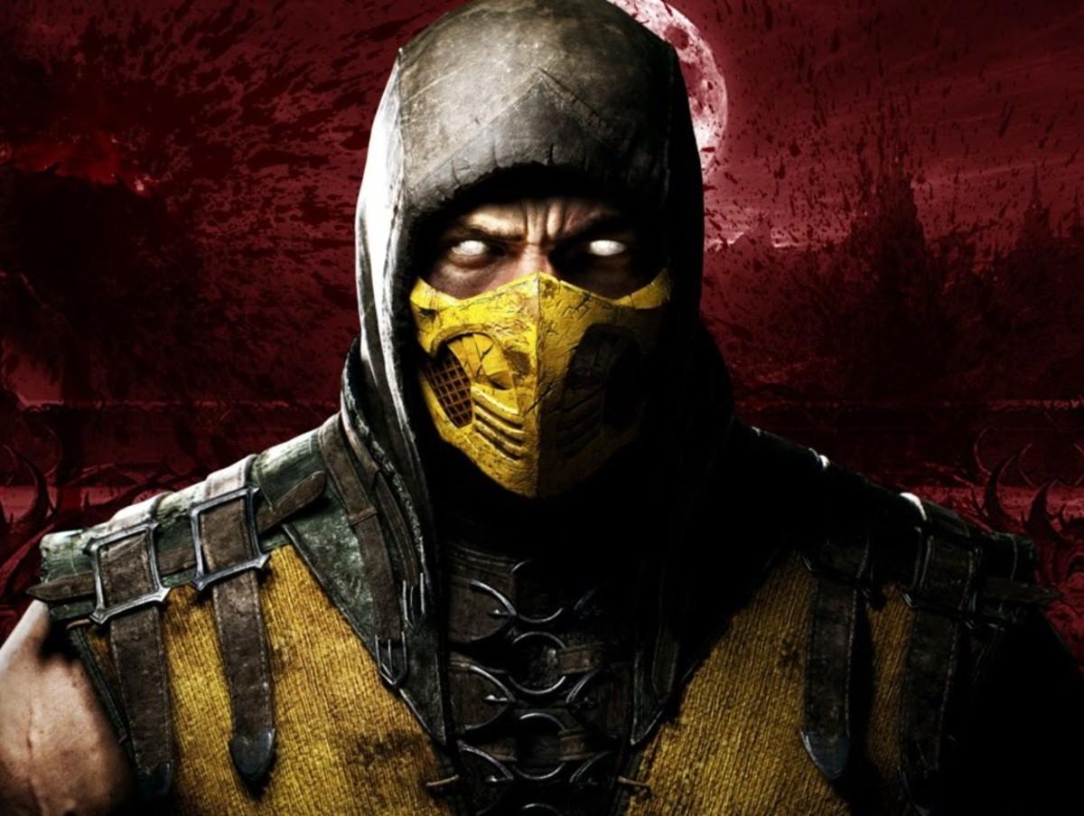 "Scorpion Mask in ""Mortal Kombat"""
