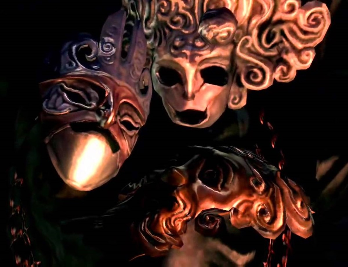 "Pinwheel's Masks in ""Dark Souls"""