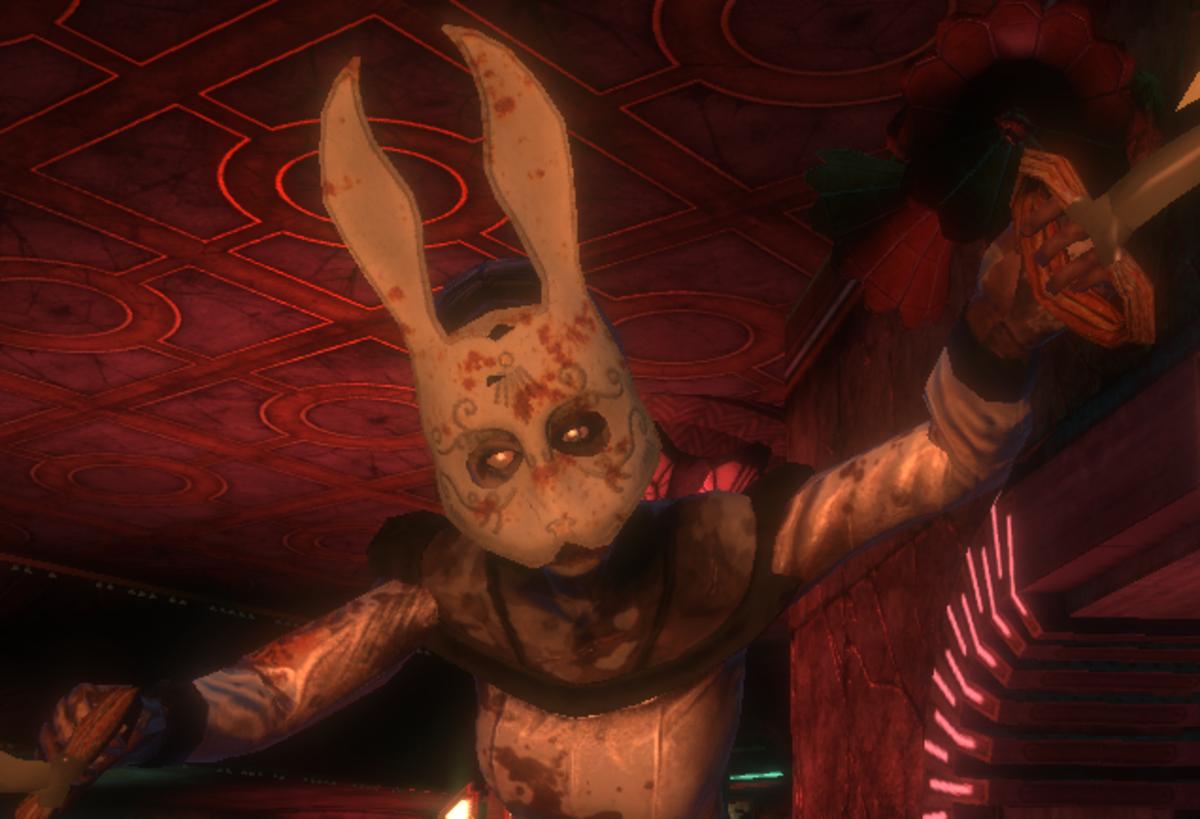 """Splicer Bunny Mask in """"Bioshock"""""""