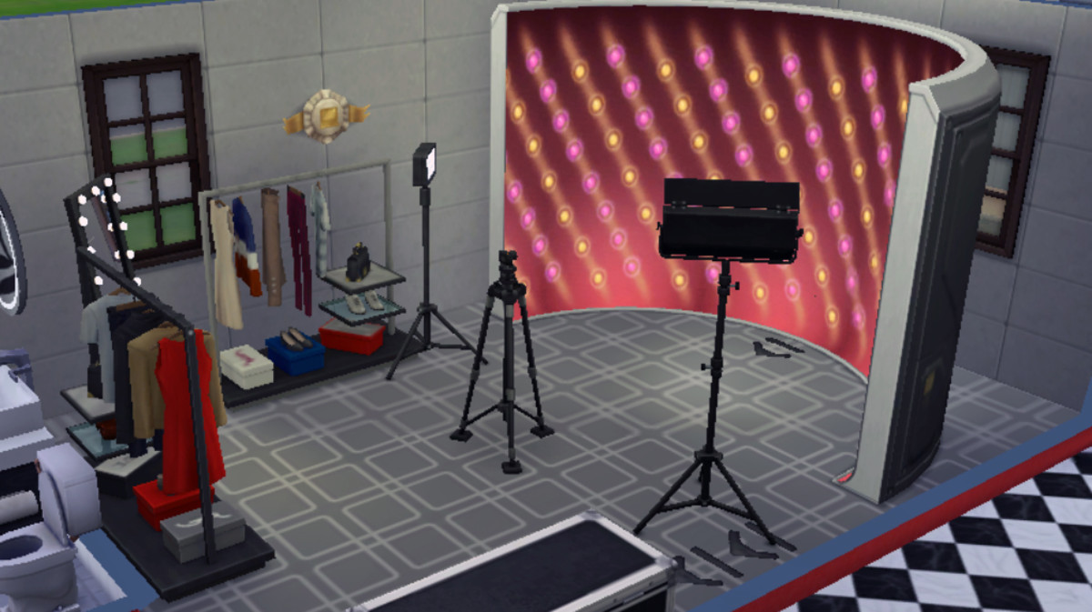 There are so many great options to not only make your studio beautiful, but to enhance your Sim's photography skills.