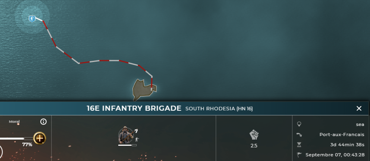 This is a naval movement, but when it takes 4 days to just move to a target, one can see why the game takes so long . . .