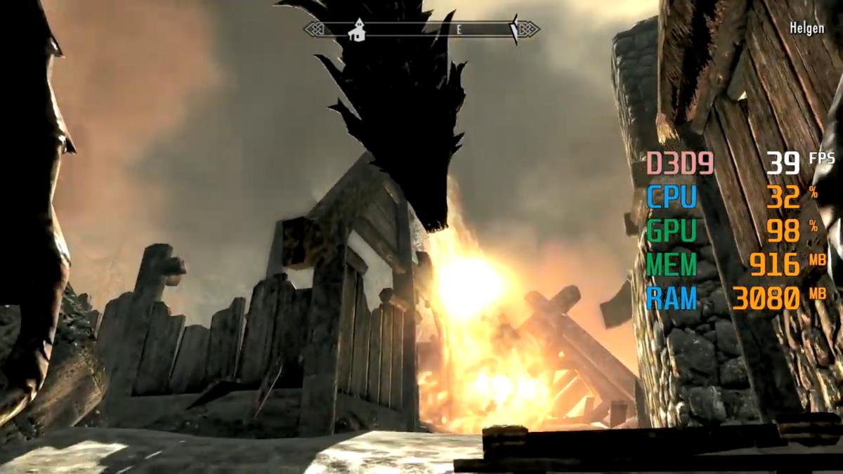 "Dragon scene at the start of ""Skyrim"""