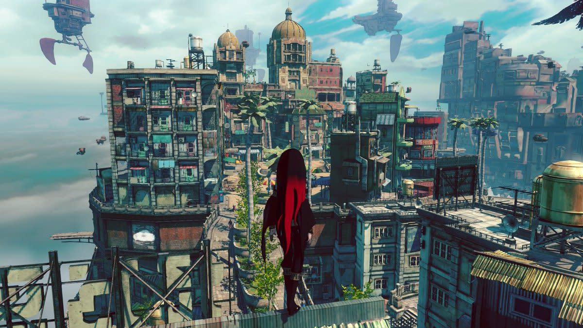 "The beautiful scenery that surrounds the world of ""Gravity Rush 2."""